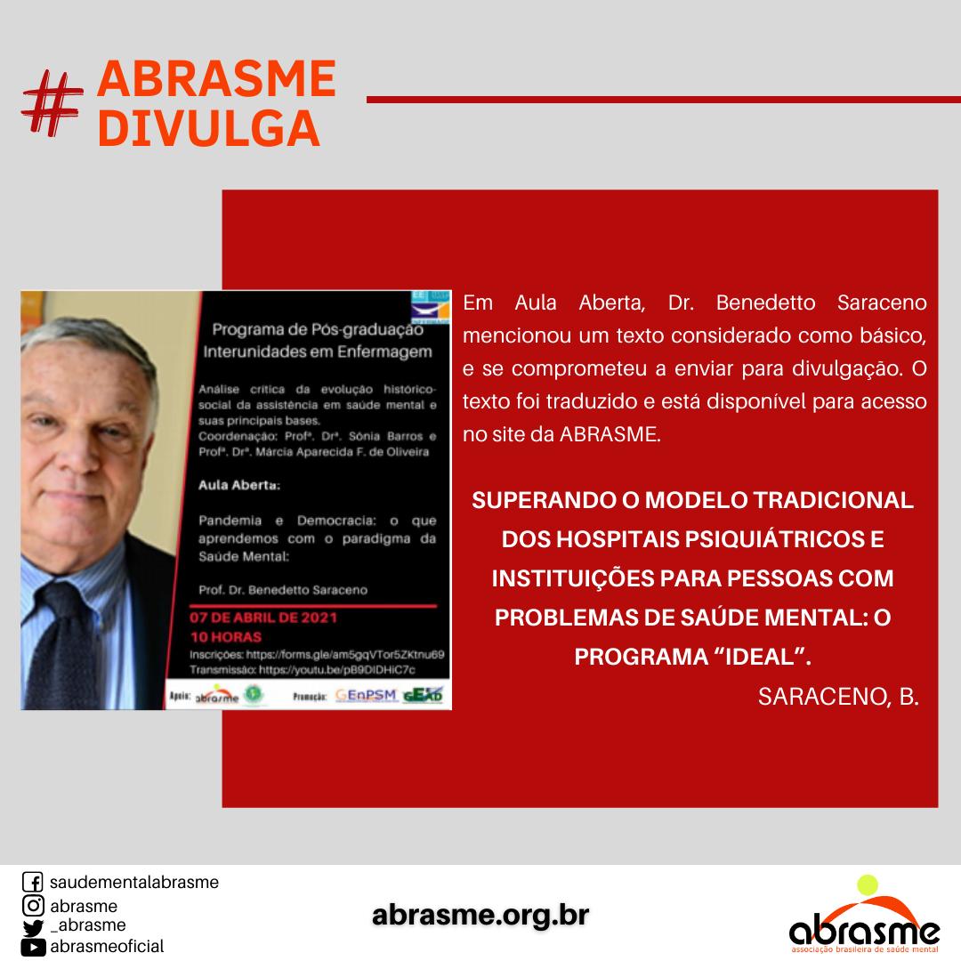 ABRASME participa de Live do CFP com o tema Manicomialização da Juventude: reflexões e ações de enfrentamento à Resolução Conad nº 3/2020