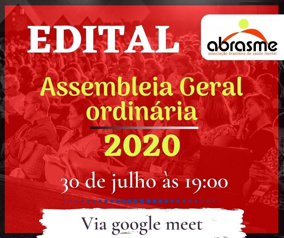 Informe sobre eleições para diretoria da ABRASME para o biênio 2020-2022