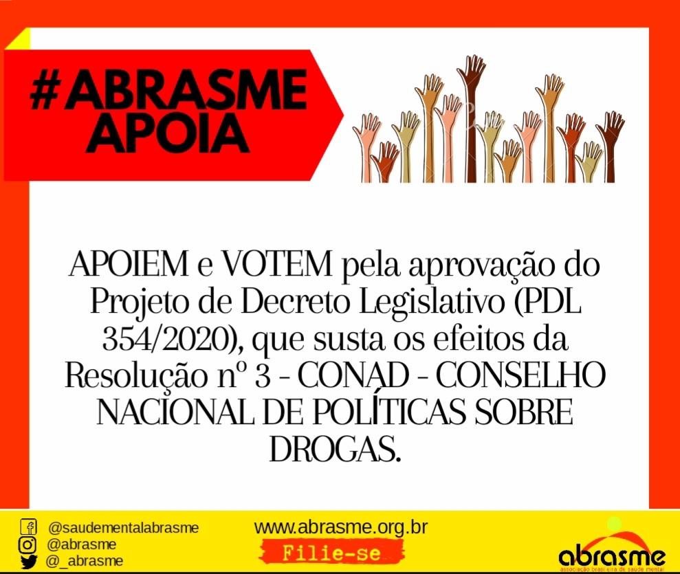 ABRASME apoia a votação pela aprovação do PDL que susta os efeitos da Resolução nº 3 - CONAD