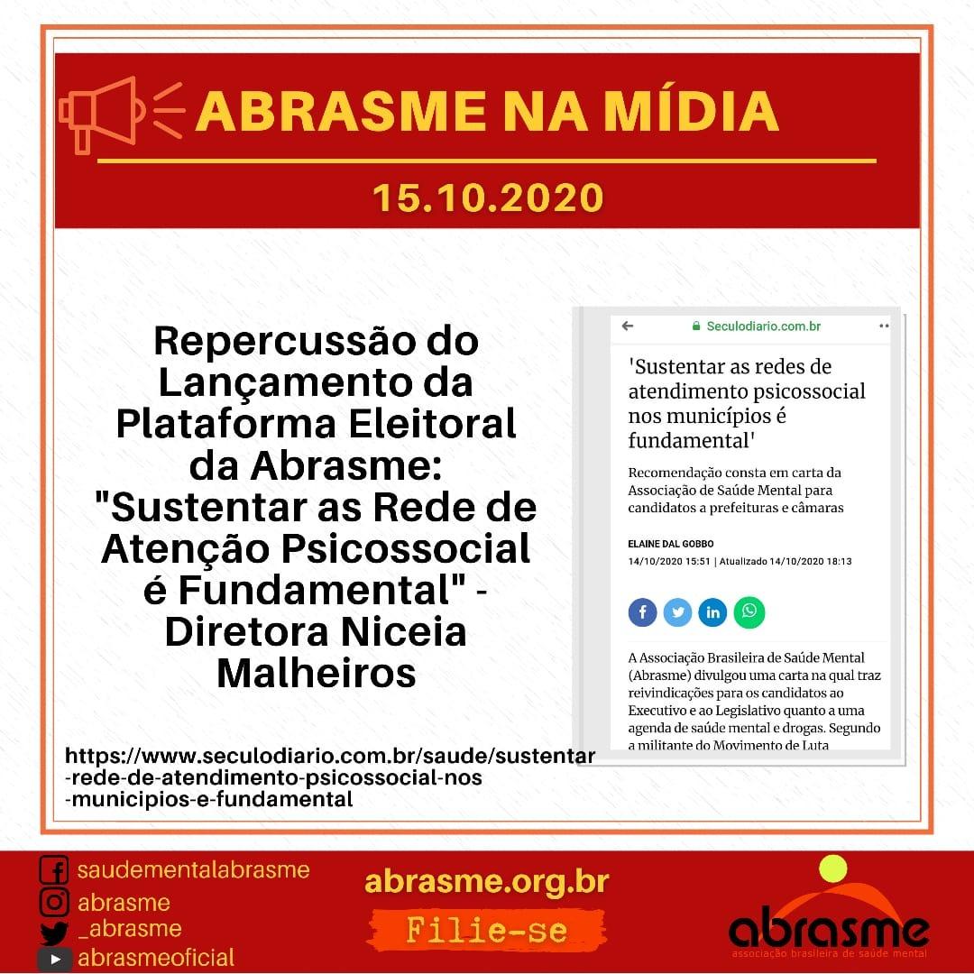 Confira a repercussão do lançamento da Plataforma Eleitoral da ABRASME